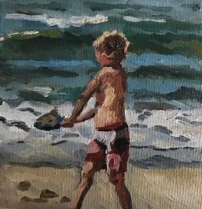 Zand naar zee dragen
